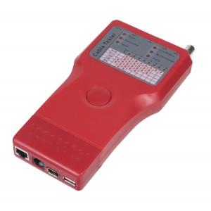 Cabeus CT-SLT-5-1 Тестер для витой пары, коаксиала, телефона, USB, 1394 (батарея в комплекте)