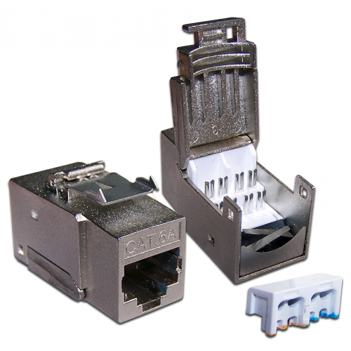 Модуль Keystone, RJ45, кат.6A, STP, 90 градусов LAN-OK45S6A/90