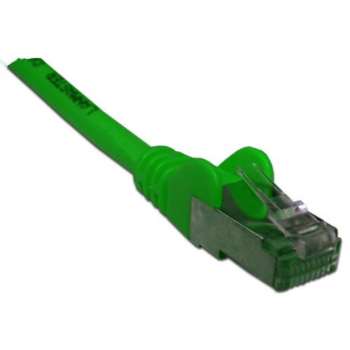 Патч-корд RJ45 кат 6 FTP шнур медный экранированный LANMASTER 1.5 м LSZH зеленый LAN-PC45/S6-1.5-GN