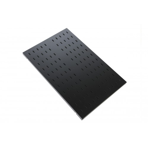 Полка перфорированная грузоподъёмностью 100 кг., глубина 1000 мм, цвет черный СВ-100У-9005