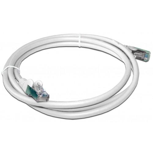 Патч-корд RJ45 кат 5e FTP шнур медный экранированный LANMASTER 10.0 м LSZH белый LAN-PC45/S5E-10-WH
