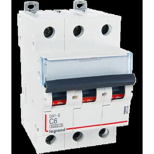 Автоматический выключатель Legrand  DX3-E C6 3П 6kA (407288) 407288