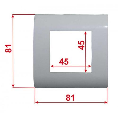 Пластиковая накладка на цоколь, 45х45, белая TWT-FR45x45