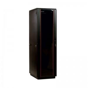 """Шкаф 42U ЦМО 19 """" телекоммуникационный напольный 800x800 дверь стекло, цвет чёрный"""