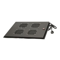 Вентиляторный блок потолочный 2 вентилятора для напольных шкафов MDX  глубиной 600мм, черный