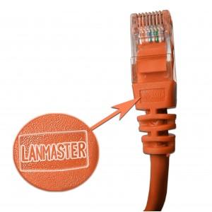 Патч-корд RJ45 UTP кат 5Е шнур медный LANMASTER 0.5 м оранжевый