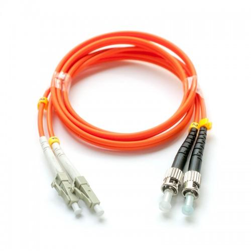 Патч-корд оптический дуплексный LC-ST многомод 50/125 1м MDX-2LC-2ST/1-M5