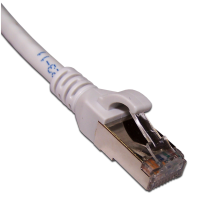 Патч-корд RJ45 кат 6A FTP шнур медный экранированный LANMASTER 1,0м серый