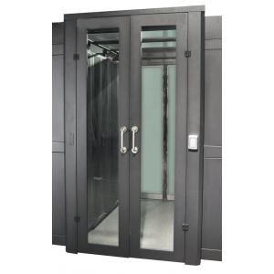 Распашная дверь коридора 1200 мм для шкафов LANMASTER DCS 42U, стекло,  key-card замок