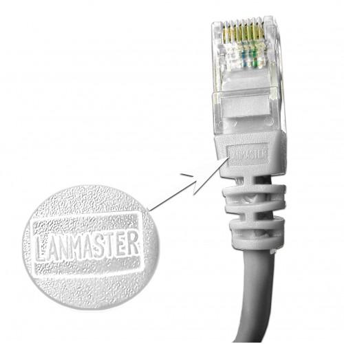 Патч-корд RJ45 UTP кат 5Е шнур медный LANMASTER 10.0 м белый LAN-45-45-10-WH