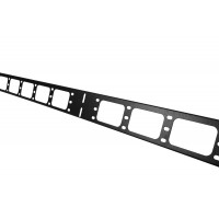 Вертикальный кабельный органайзер в шкаф, ширина 75 мм 38U, цвет черный