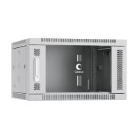 """Cabeus SH-05F-6U60-60 Шкаф 19"""" 6U 600x600 телекоммуникационный настенный, дверь стекло, серый"""