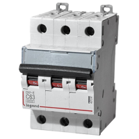 Автоматический выключатель Legrand  DX3-E C63 3П 6kA (407297)