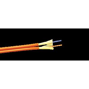 Кабель 2 волокна многомод внутренний, ZIP cord, LSZH, OM2, оранжевый