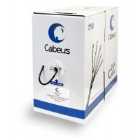 Cabeus UTP-4P-Cat.5e-SOLID-BK Кабель витая пара U/UTP кат5e 4 пары 4x2x0,50 черный 305м