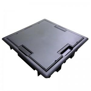 Люк - 16 модулей (8 розеток 45х45мм), антрацит (Efapel 83008 CAT)
