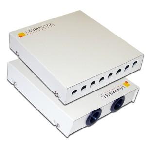 Кросс оптический LANMASTER настенный, металлический, на 8 ST адаптеров