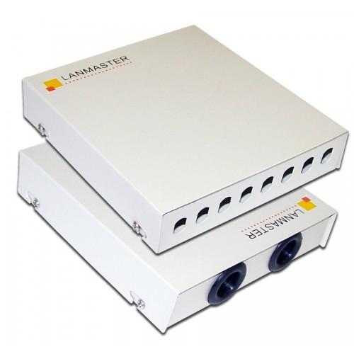 Кросс оптический LANMASTER настенный, металлический, на 8 ST адаптеров LAN-FOBM-WM-8ST