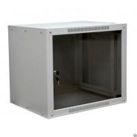 """Шкаф 6U 350 мм MDX настенный 19"""" облегченный, дверь стекло, без задней стенки, серый"""