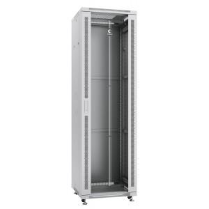 """Cabeus Шкаф 19"""" 42U напольный телекоммуникационный 600x600 серый, разборный, дверь стекло"""