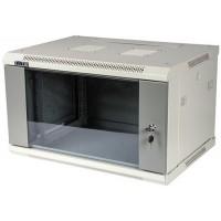 """Шкаф TWT 6U настенный 19"""" серии Pro, 600x600, стеклянная дверь, разборный"""