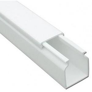 Мини-канал Metra - 40x40 - 2 метра - с крышкой - белый