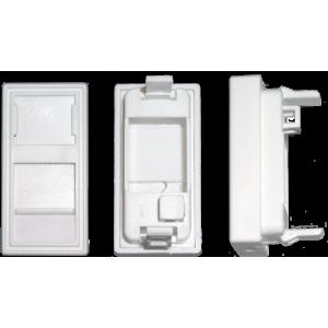 Вставка адаптер 45 х 22,5 (рамка Mosaic) для 1 модуля Keystone, со шторкой