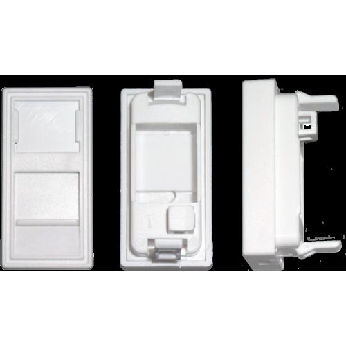 Вставка адаптер 45 х 22,5 (рамка Mosaic) для 1 модуля Keystone, со шторкой MDX-SIP-22-1K