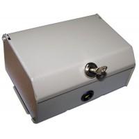Настенный распределительный бокс, металл, 2 плинта, 20 пар, с замком TWT-DB10-2P/KM