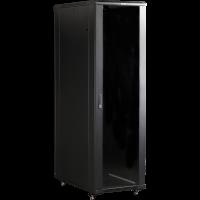 """Шкаф телекоммуникационный 37U 600x600 19"""" TWT, черный, передняя дверь стекло, задняя дверь металл"""