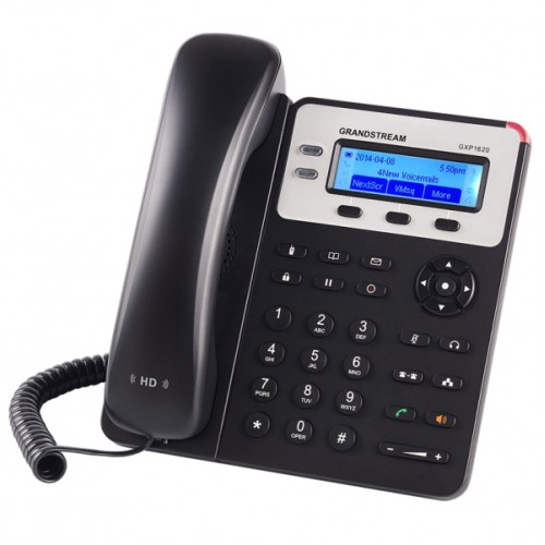 IP-телефон, 2 SIP линии, 2 порта 10/100 Mbps, HD аудио, Grandstream GXP1620 GXP1620