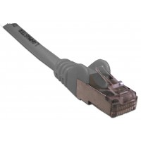 Патч-корд RJ45 кат 6 FTP шнур медный экранированный LANMASTER 1.5 м LSZH серый