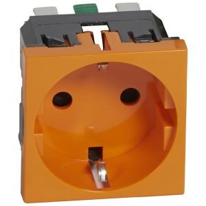 Розетка Legrand электрическая 2К+3 Mosaic оранжевая