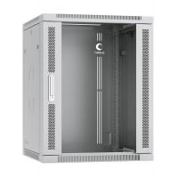 """Cabeus SH-05F-15U60/35 Шкаф 19"""" 15U 600x350 телекоммуникационный настенный дверь стекло, разборный"""