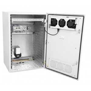 """Шкаф уличный всепогодный 19"""" настенный укомплектованный 12U (Ш600хГ500), комплектация T1-IP54"""