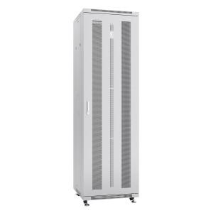 """Cabeus Шкаф 19"""" 42U напольный телекоммуникационный 600x800 серый, разборный, дверь перфорированная"""