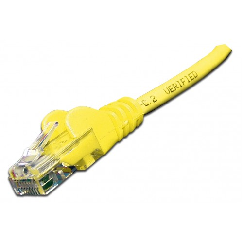 Патч-корд RJ45 UTP кат 6 шнур медный LANMASTER 5.0 м LSZH желтый LAN-PC45/U6-5.0-YL