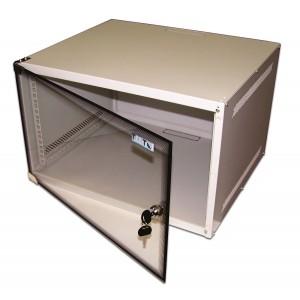 """TWT-CBWL-6U-6x4 Шкаф 6U настенный 19"""" TWT Lite, 520x450, стеклянная дверь разборный"""