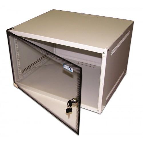 """Шкаф TWT настенный 19"""" Lite, 6U 520x450, стеклянная дверь TWT-CBWL-6U-6x4"""