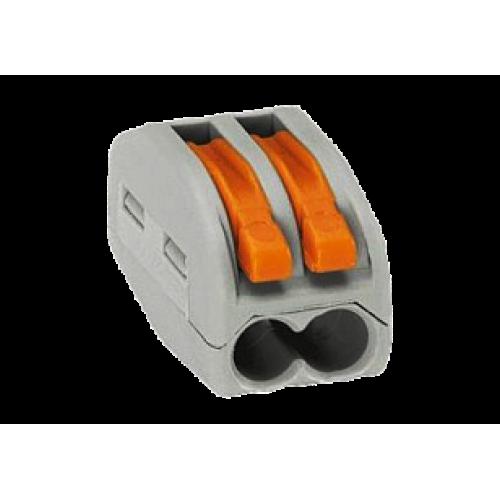 Клемма на 2 проводника (с рычагами) 2x0,08-4/2,5 мм (WAGO) 222-412