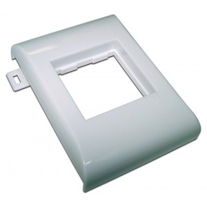 Пластиковый суппорт 45Х45, безвинтовой на защелках, в короб 100 мм TWT