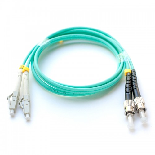 Патч-корд оптический дуплексный LC-ST многомод OM3 1м MDX-2LC-2ST/1-OM3