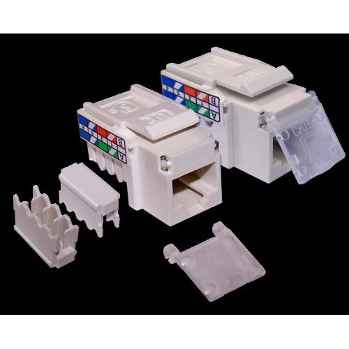 Модуль Keystone, RJ45, кат.5E, UTP, 90 градусов, узкий, со шторкой, белый, LAN-OK45U5E/90N-WH LAN-OK45U5E/90N-WH