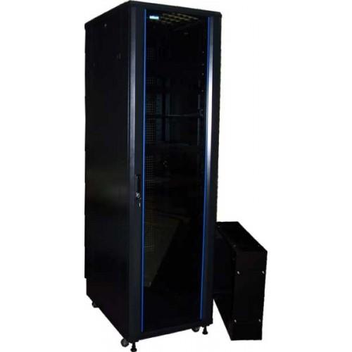 """Шкаф TWT 19"""" телекоммуникационный Business, 42U 600x600, без дверей, с боковыми стенками, черный TWT-CBB-42U-6x6-00"""