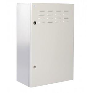 """Шкаф уличный всепогодный 19"""" настенный 12U (Ш600хГ300), передняя дверь вентилируемая"""