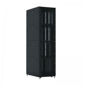 Шкаф ЦМО 44U серверный ПРОФ напольный колокейшн 600x1000 4 секции, дверь перфор. 2 шт., в сборе