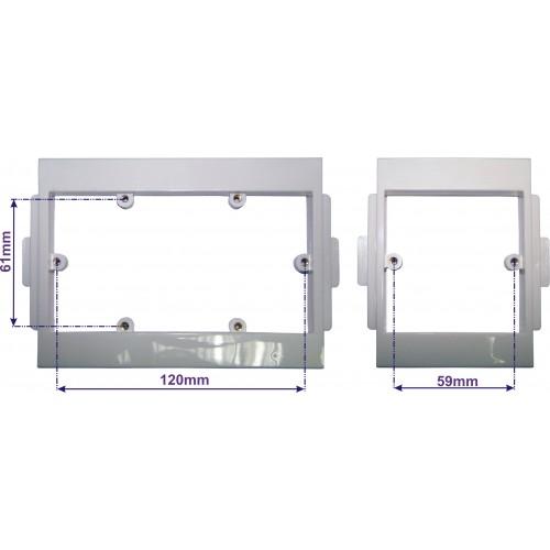 Пластиковый суппорт 45Х45, под винт, в короб 100 мм TWT TWT-CT100-F45X45