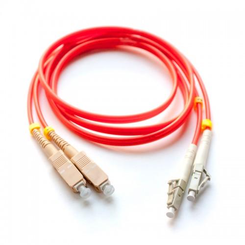 Патч-корд оптический дуплексный SC-LC многомод 62,5/125 1м MDX-2SC-2LC/1-M6