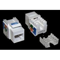 Модуль Keystone RJ45, Cat.6, UTP, 90 градусов, белый, TWT-OK45UTP/6-WH