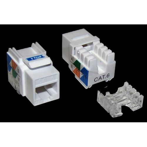 Модуль Keystone RJ45, Cat.6, UTP, 90 градусов, белый, TWT-OK45UTP/6-WH TWT-OK45UTP/6-WH